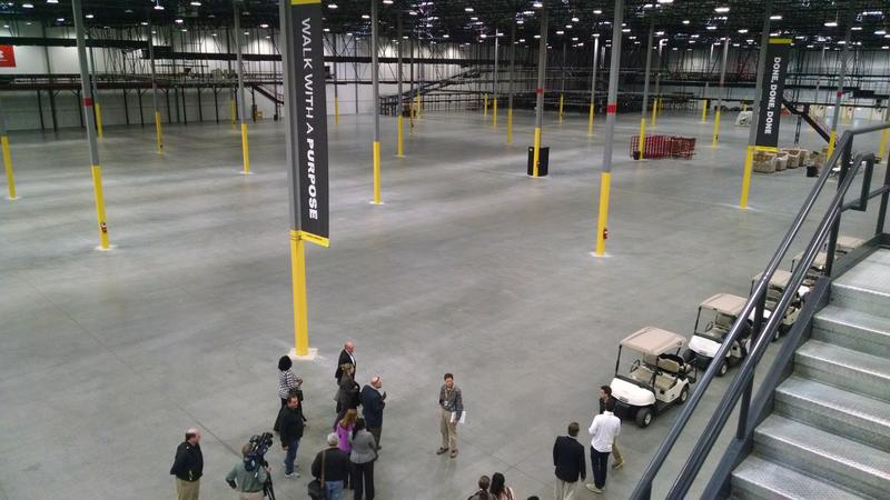 Under Armour has built the facility with room to expand. It hopes to quintuple its workforce in five years.