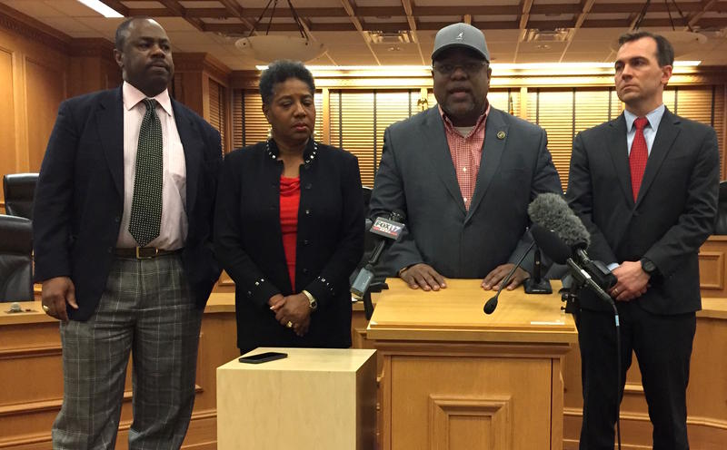 BLACK CAUCUS STANDS AGAINST ACHIEVEMENT SCHOOL DISTRICT RUNNING MORE SCHOOLS.