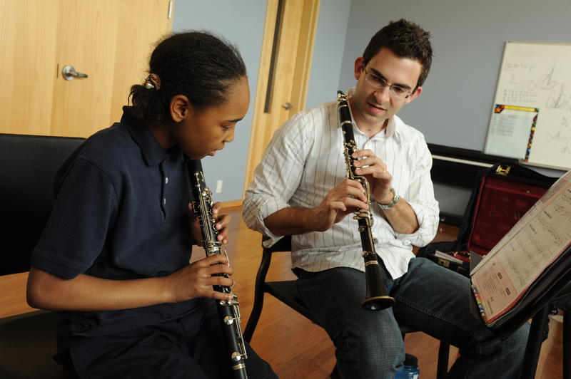 The Accelerando program provides music lessons to minority students beginning in middle school.