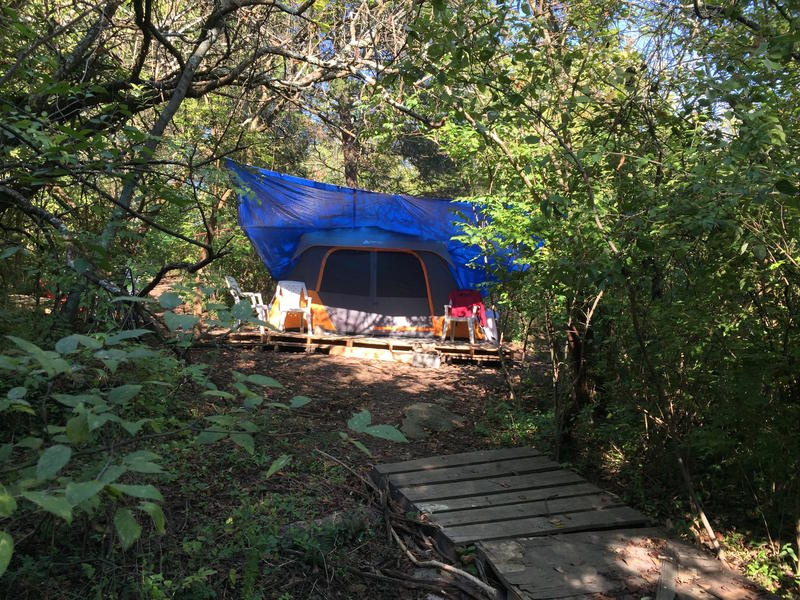 Nashville homeless tent camping