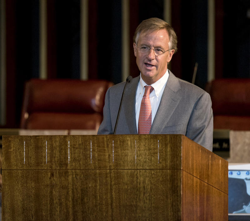 "Gov. Bill Haslam says vetoing popular legislation is ""probably wasting your breath."""