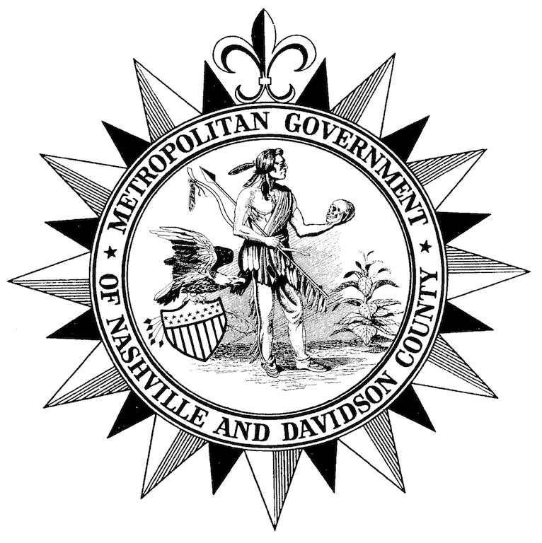 The Metro seal appears on city letterhead as well as the Metro flag.