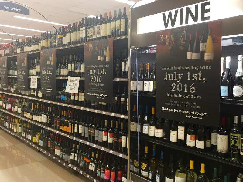 Even by mid-June, the wine shelves at one Nashville Kroger location were fully stocked.