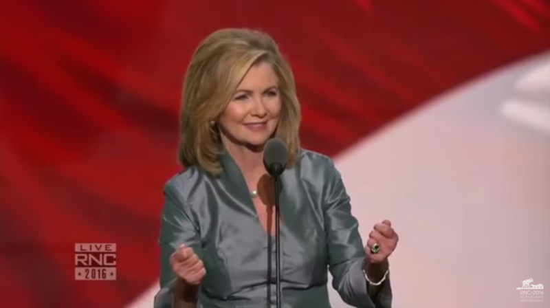 Tennessee Congressman Marsha Blackburn helped introduce President Trump shortly before his acceptance speech at last year's Republican National Convention.