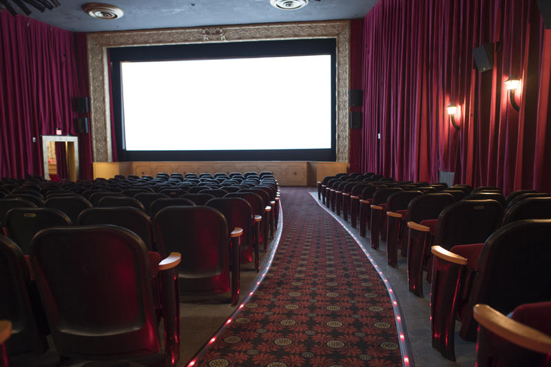 The renovated 1925 hall – the very first movie theatre of the Belcourt.
