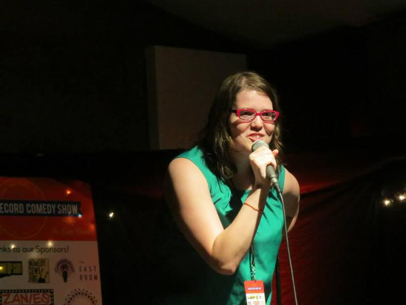 Mary Jay Berger performed during nearly 10 days of non-stop stand up comedy in May.