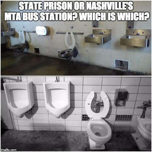 This Side By Photo Of Bathroom Conditions As Nashvilles Bus Station And The Former State Prison Prompted Promises Renovation At Music City