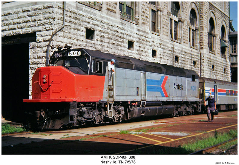 The Floridian passes through Union Station in 1978, the year before the line was cut as part of an Amtrak reorganization.