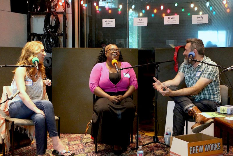 Victoria Banks, TJ Jarrett and Bryce McCloud discuss their art and inspiration at the Movers & Thinkers live taping in June.
