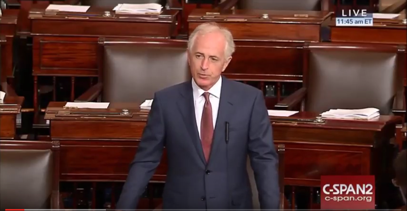 "Sen. Bob Corker says he had ""tremendous difficulty"" supporting the Justice Against Sponsors of Terrorism Act."