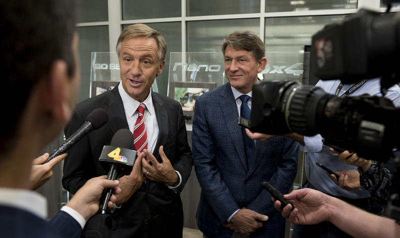 Gov. Bill Haslam released a statement Sunday afternoon saying Donald Trump should step aside and allow Gov. Mike Pence to become the Republican nominee for president.