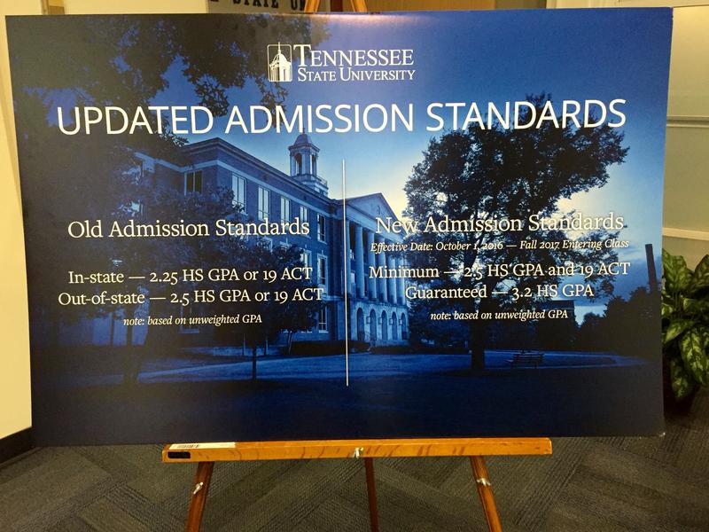 Students applying to Tennessee State University for next fall's freshman class will have to meet a higher bar compared to previous requirements.