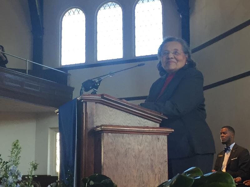 Diane Nash speaks at Fisk University's annual convocation, called Jubilee Day.