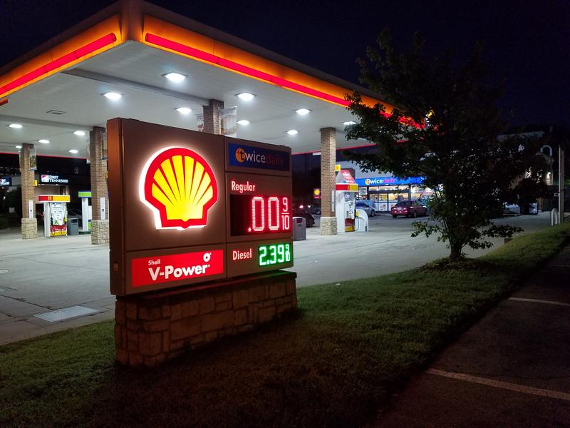 The sign at a Green Hills gas station showed in September it was out of fuel. The most recent closure of the Colonial Pipeline hasn't led to shortages.