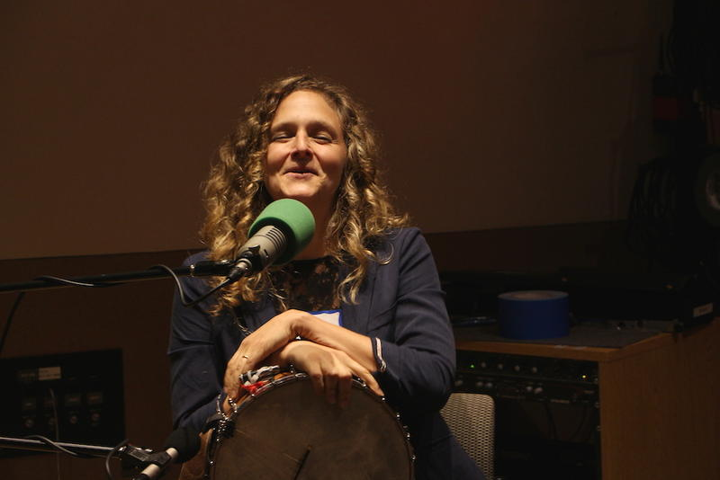 Abigail Washburn sings one of her original songs at the live taping of Movers & Thinkers.