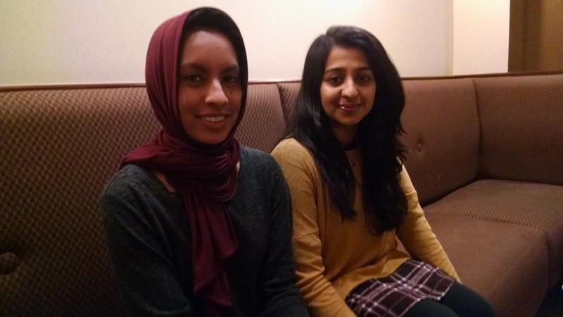 """Belmont sophomore Maryam Fakhruddin and junior Amber Ansari say they were stunned by President-elect Donald Trump's upset. """"We have every right to live in fear now because of this,"""" says Fakhruddin."""
