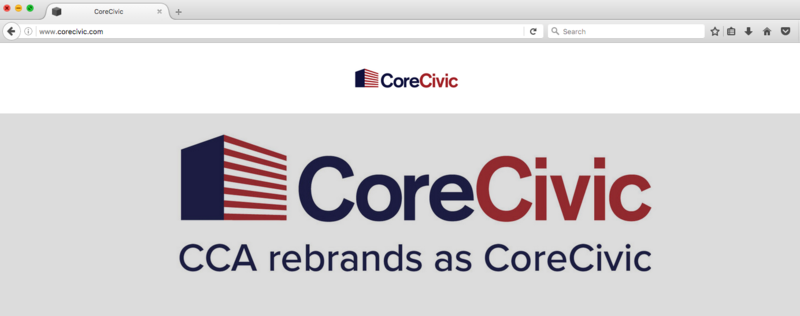 Corrections Corporation of America announced plans to change its name last week, including a new website.