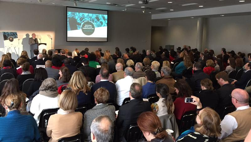Community leaders gathered at the Adventure Science Center Monday for the release of the Nashville Area Chamber of Commerce annual report card.