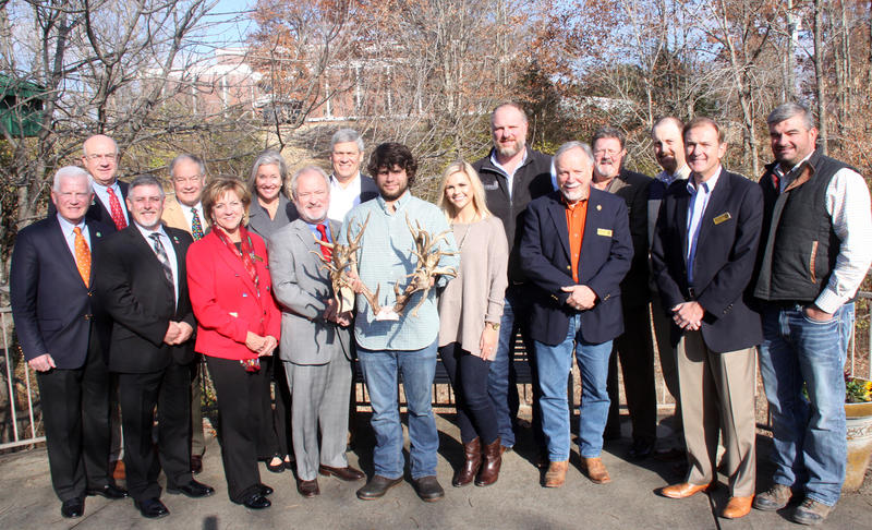 Stephen Tucker posed with the TWRA commission Friday morning during a regular board meeting.