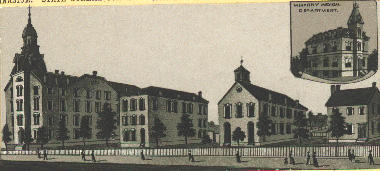 Central Tennessee College, later known as Walden University, was another important educational institution. The university closed, but its medical department, shown in the inset, remains in operation as Meharry Medical College.