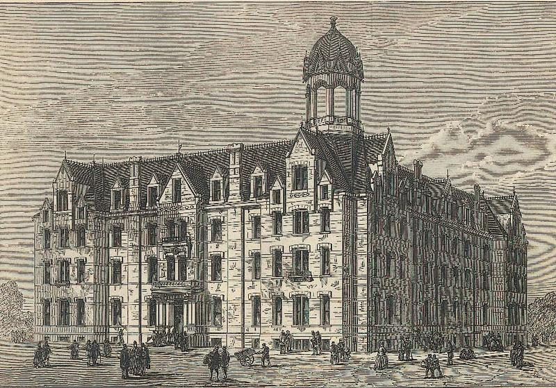 Fisk University's Jubilee Hall, shown in a 1872 etching, was an early economic engine for Jefferson Street.