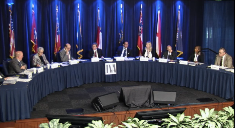 The nine-member board that leads the Tennessee Valley Authority is appointed by the president and confirmed by Congress.