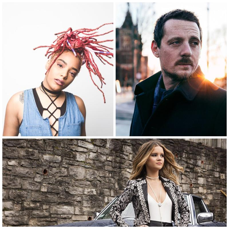 Clockwise from top left, Nashville artists Kiya Lacey, Sturgill Simpson and Maren Morris.