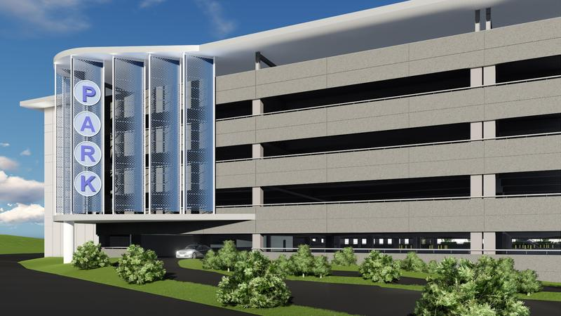 The Nashville airport's new parking garage is the first step in a massive expansion plan.