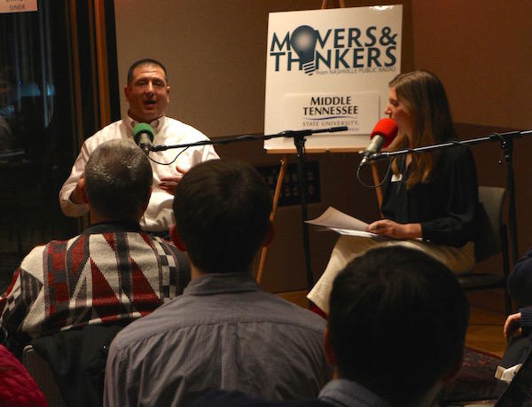 Tim Nunez talks about his work as a crisis responder at Movers & Thinkers #9: Responders.
