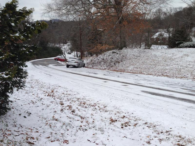 Snow blanketed much of Nashville Friday morning, after Metro Schools had decided to remain open.