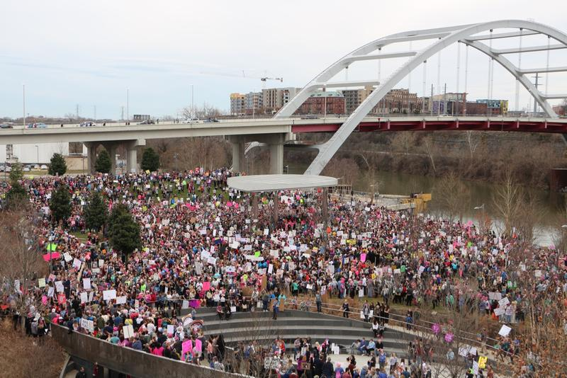 The march, called Power Together TN, began in Nashville's Cumberland Park.