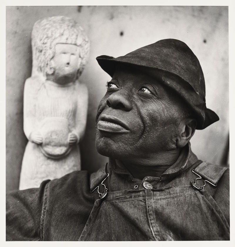 Photographer Louise Dahl-Wolfe took a series of stunning photographs of William Edmondson, and she was responsible for introducing his work to the Museum of Modern Art. Edmondson became the first African American artist to have a solo show there.