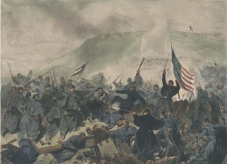 An engraving shows the capture of Fort Donelson on the Cumberland River near Dover. It's one of Tennessee's 38 major Civil War battlefields.