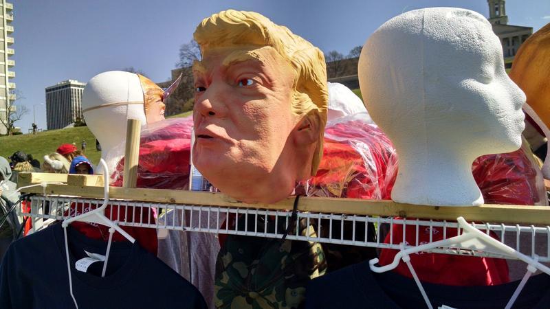 """""""Presidential masks are never not creepy."""" - Chas Sisk"""