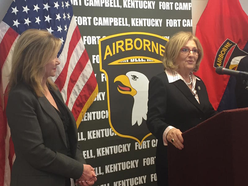 Congressmen Diane Black and Marsha Blackburn, shown here at an event in 2015, have both been given low favorability ratings by the voters.
