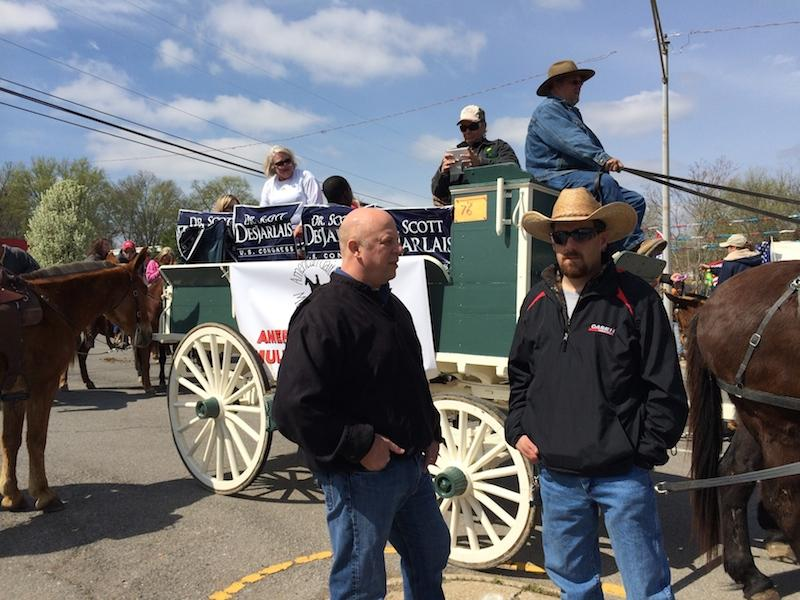 Rep. Scott DesJarlais, seen here at Columbia's Mule Day in 2014, is being courted by the White House to gain his support for the GOP health care bill.
