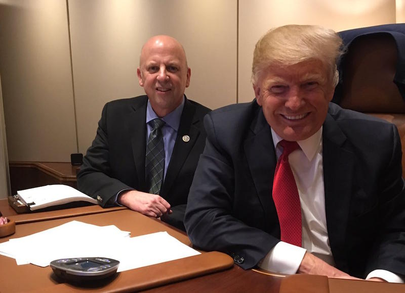 Rep. Scott DesJarlais rode with President Trump on Air Force One during a visit to Nashville this month.