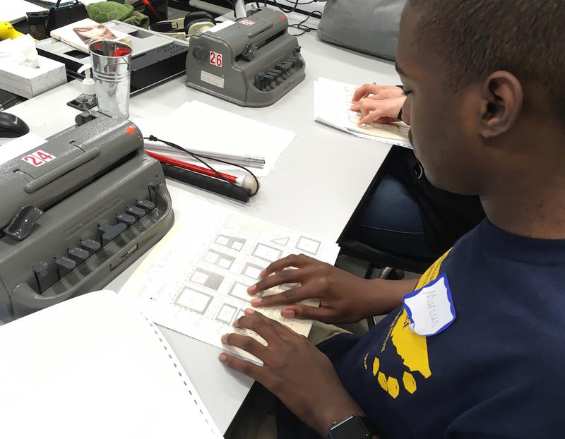 Marcus Johnson, a senior at the Tennessee School for the Blind, is a perennial winner of the Braille Institute's regional competition.
