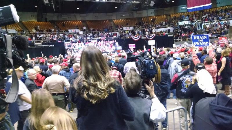 Thousands of Donald Trump supporters turned out for a Trump rally in Nashville last year.