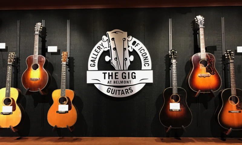 "100 of the 500 guitars donated to Belmont will be on display in the Gallery of Iconic Guitars, or ""GIG."""