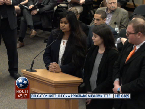 "University of Tennessee-Knoxville students testify against a bill aimd at curbing ""anti-Semitic"" speech on college campuses."