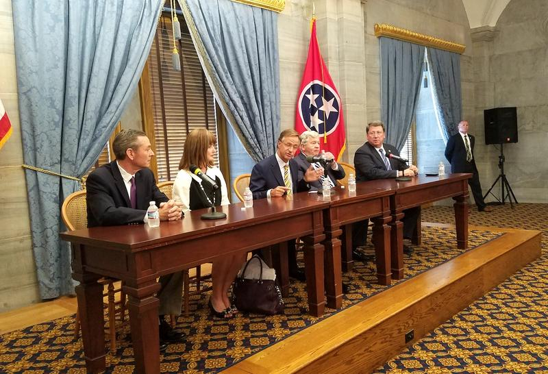 Republican leaders, including Gov. Bill Haslam, discuss the 2017 legislative session on Wednesday.