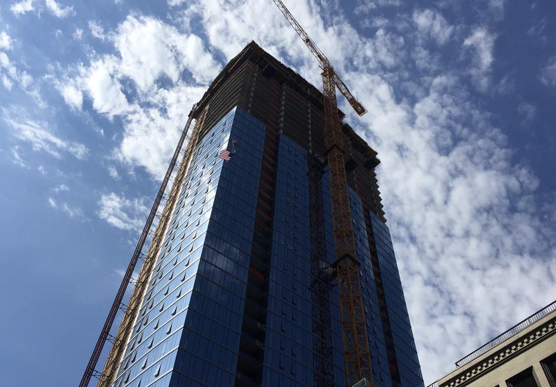 Nashville's tallest residential building, the 505, commemorated pouring its last layer of concrete in a ceremony on Thursday.  The 45-story buidling will change the skyline of Music City.
