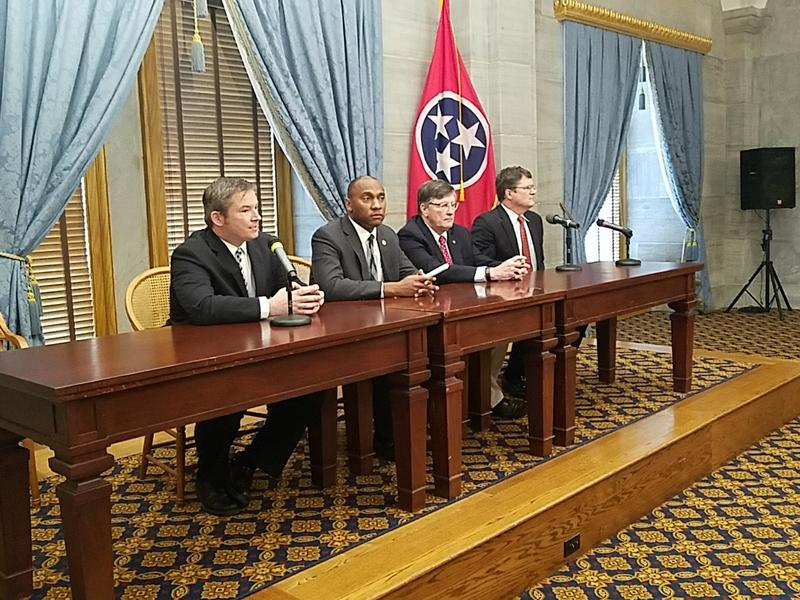 Democratic leaders in the state legislature discuss the 2017 legislative session in a pre-conference Wednesday at the Capitol.