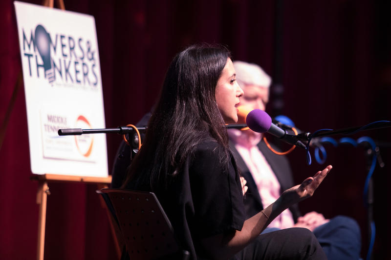 Vanessa Carlton talks about her decision to change the course of her career at the live taping of Movers & Thinkers at Podcast Party.