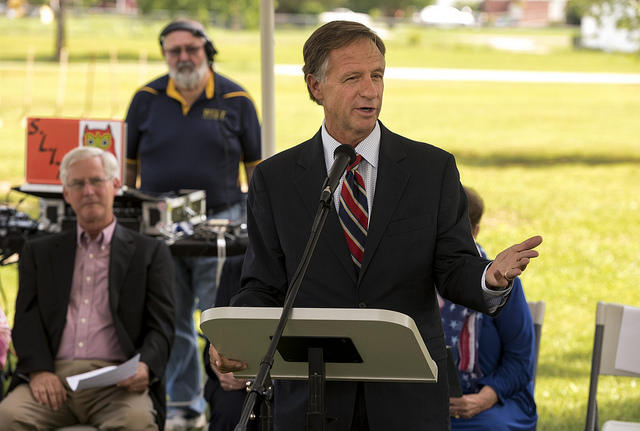 Gov. Bill Haslam says he's worried caps on future Medicaid spending could burden states like Tennessee.