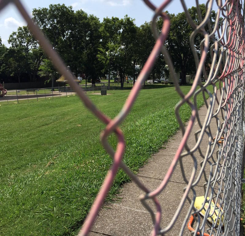 Large portions of Tony Rose Park have been blocked off for a private developer.