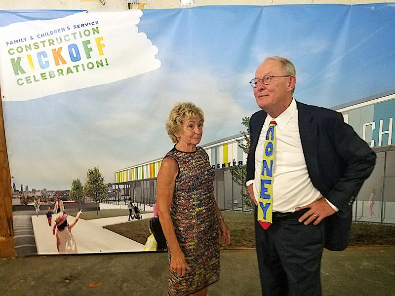 Sen. Lamar Alexander relaxes after a ceremony honoring his wife, Honey, for her support for the Nashville nonprofit, Family & Children's Services.