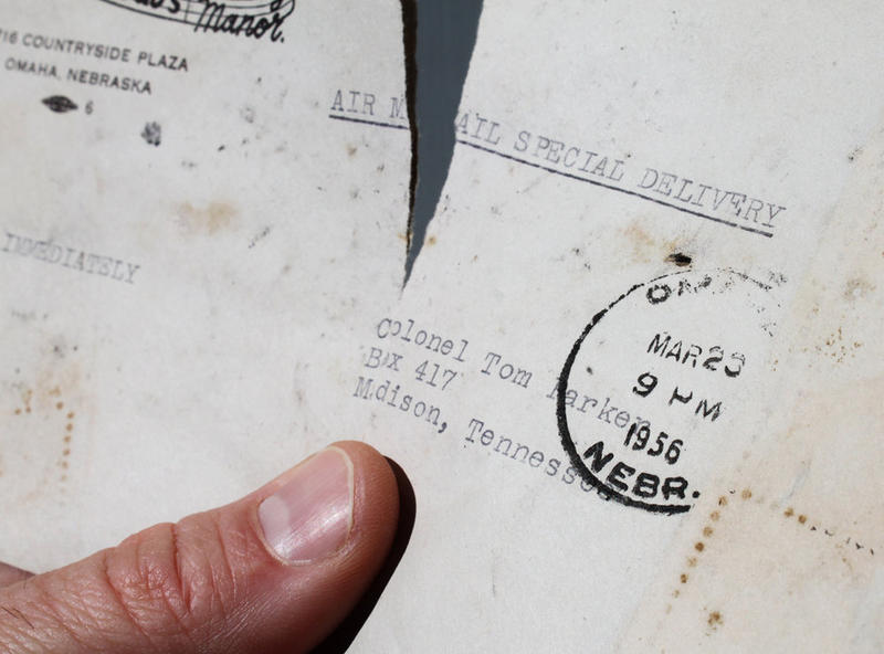 Several pieces of mail from the mid-1950s were found inside a wall cavity.