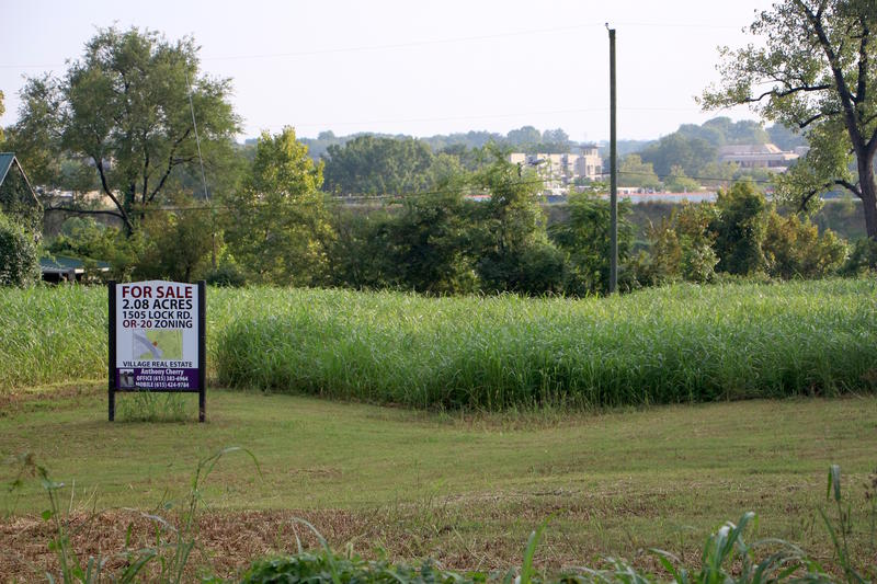 Across the street from Lock One Park is a 2-acre plot for sale.